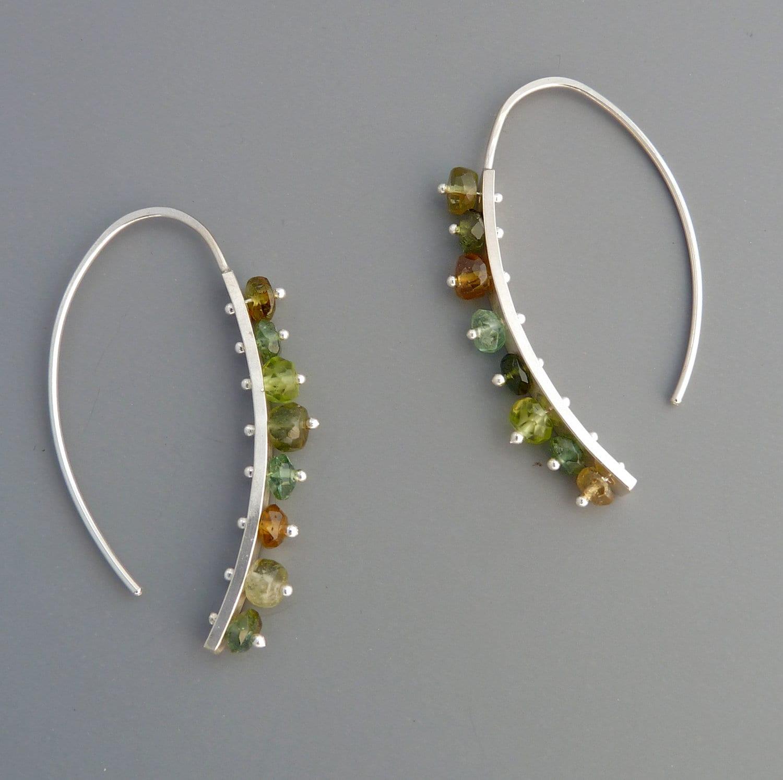 multi gemstone drop earrings wilder by rachelwilder