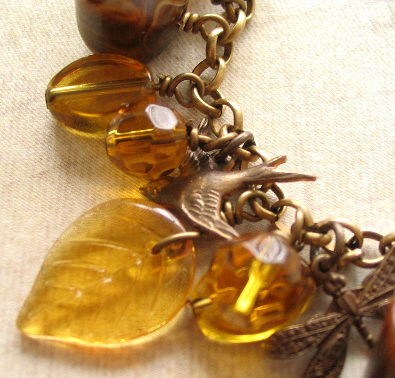 Tempting Topaz with Brass Beauties