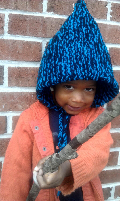 Toddler Boys Knit Pixie Hat, Pixie Hat,  Childrens Hat