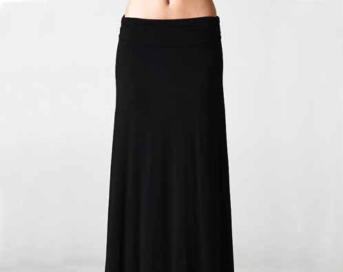 BACK TO SCHOOL maxi skirt, large and plus size, our best black maxi skirt, rollover waist, maxi, black skirt, women skirts - PricklyPoppyFashion