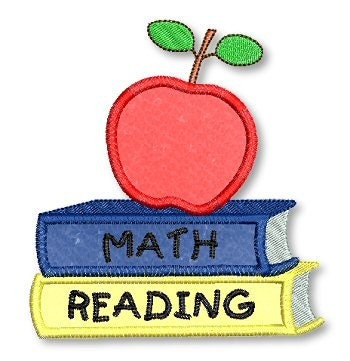 School books apple applique 4x4 5x7 machine by lynniepinnie for Apple design book