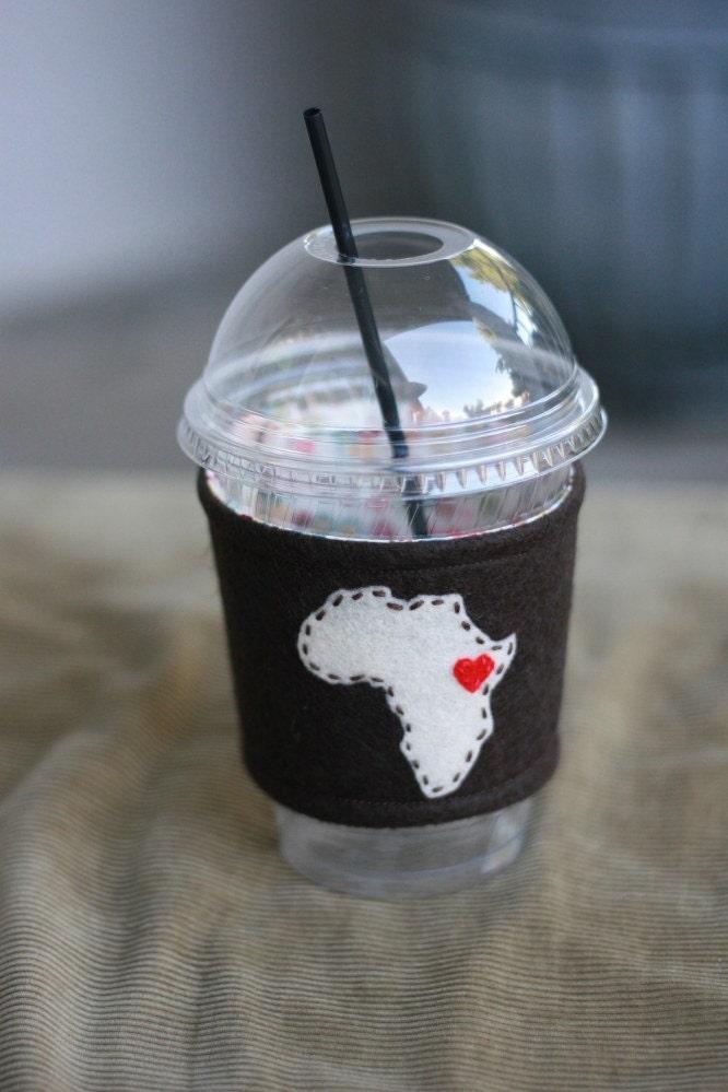 Coffee Cup Cuff - Africa