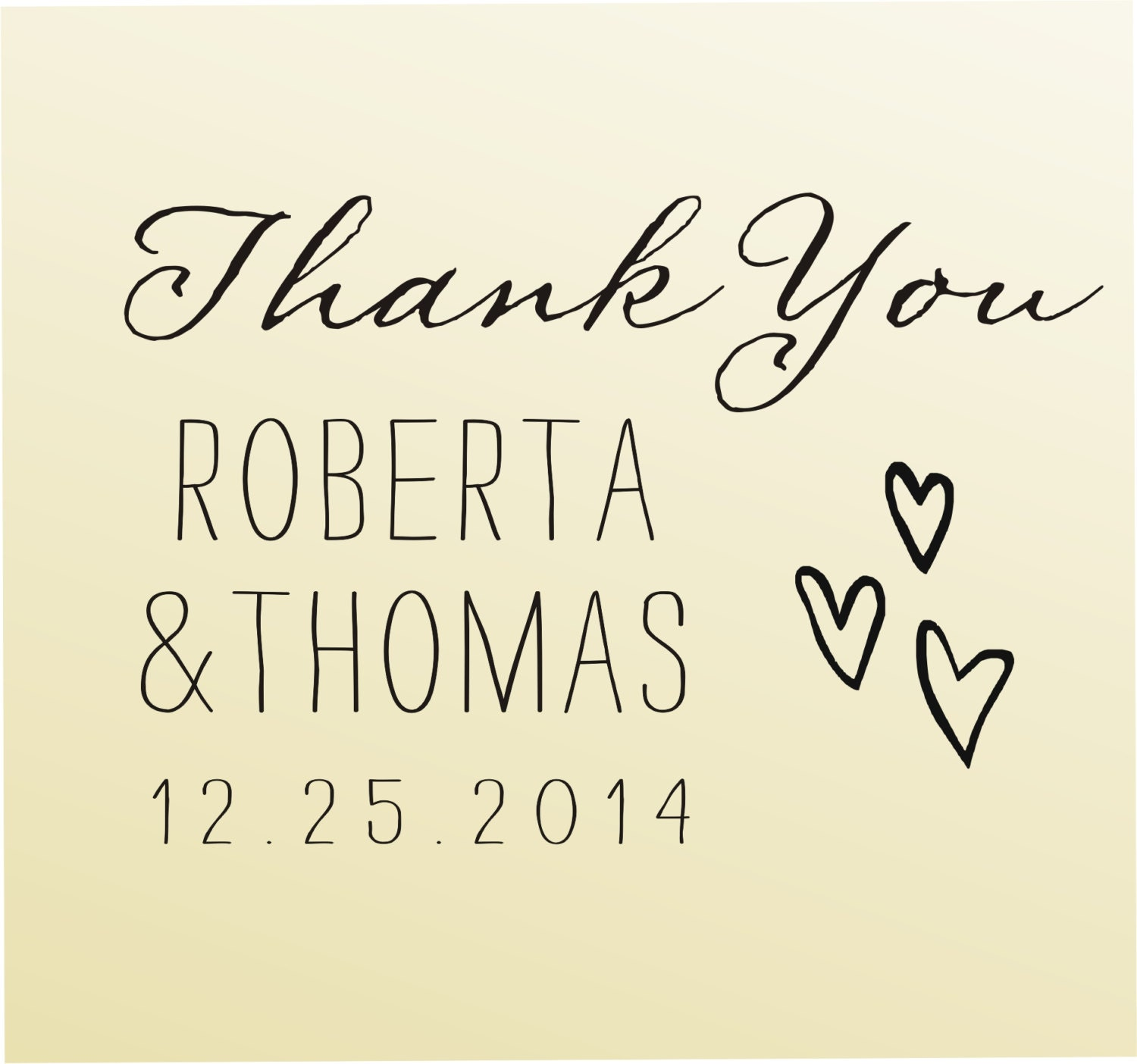 Thank you modern design calligraphy by lovetocreatestamps