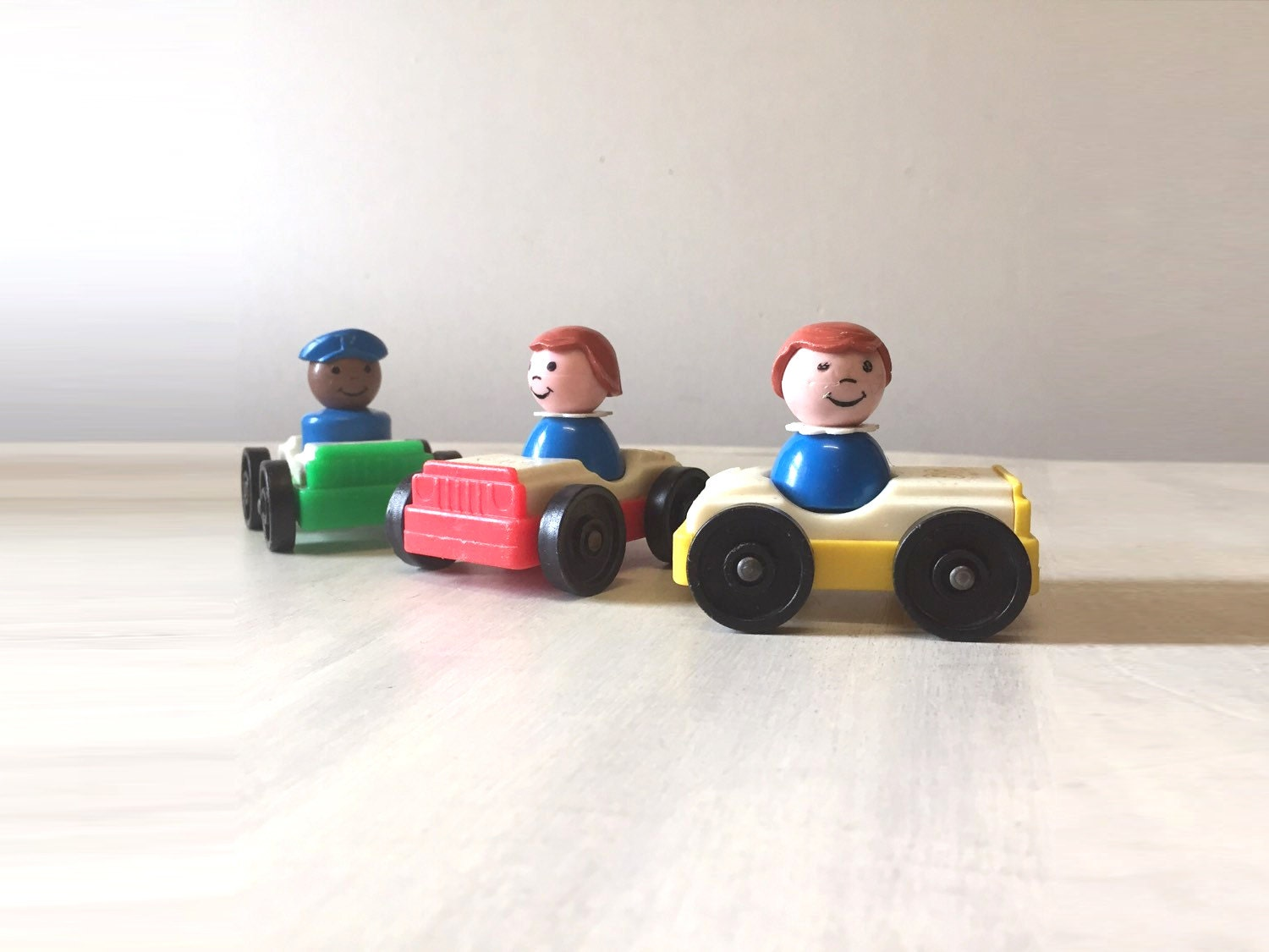 Vintage Fisher Price people vintage toys little people fisher price toy collectible toy toy car plastic toy play family retro toys