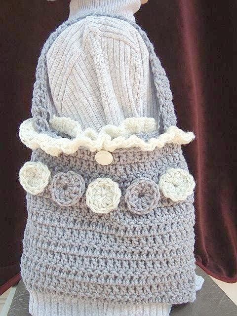 Crochet Bucket Bag Pattern : INSTANT DOWNLOAD Crochet Pattern PDF 36- Shoulder Bag, Purse, Hand Bag ...