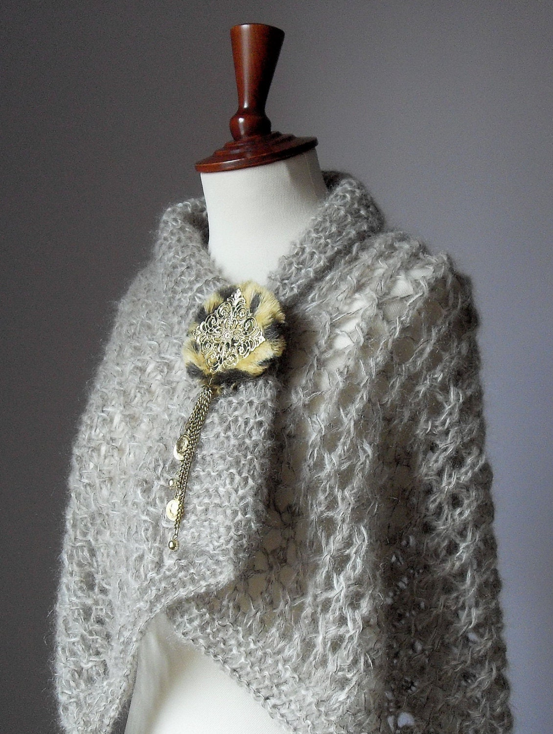 Knitting Lace Capelet/Wrap (LUX) Mohair