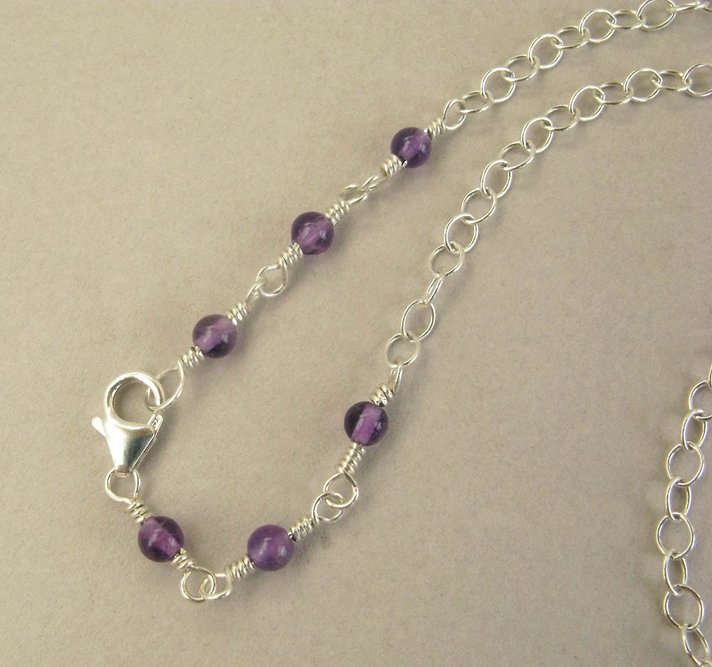 RAINBOW DROPS - fluorite and sterling silver necklace