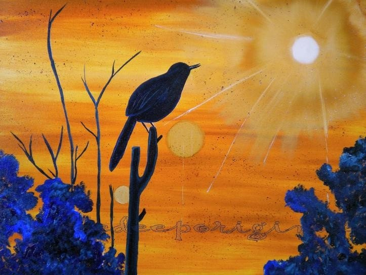 Solstice Song original oil painting