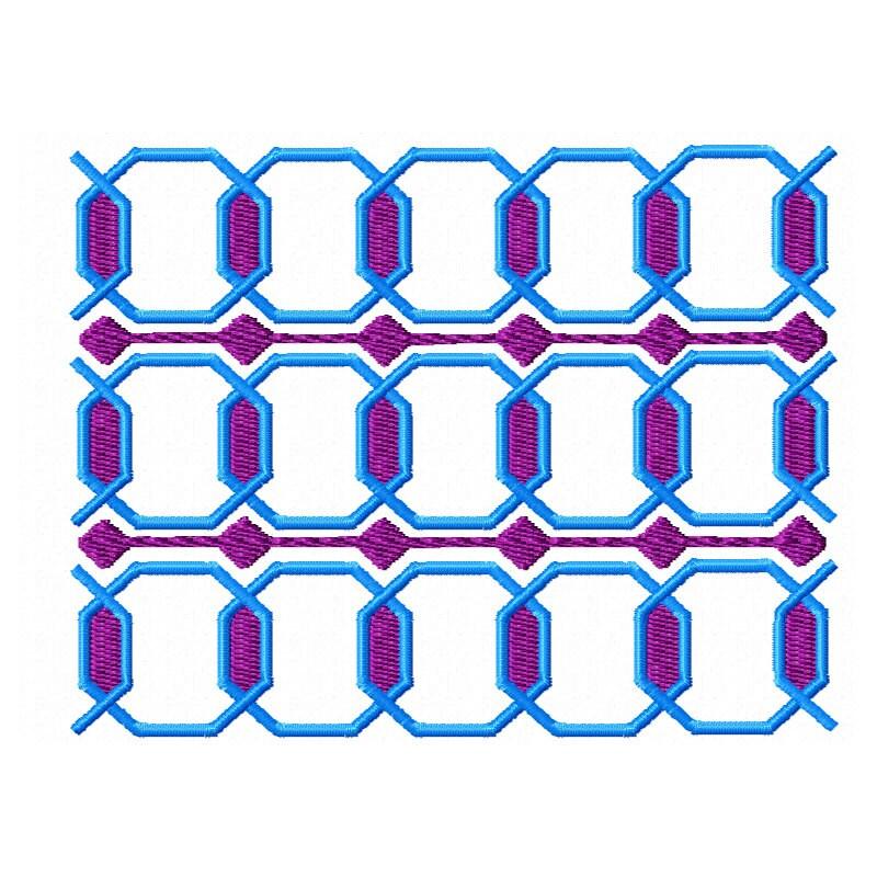 Items similar to geometric machine embroidery design