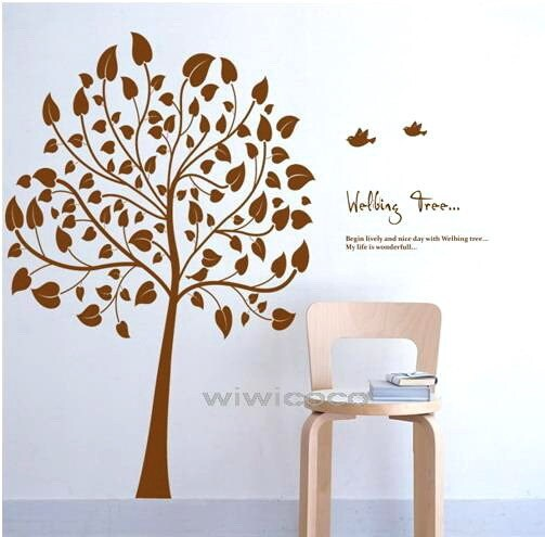 Welbing Tree--60inches high --Removable Vinyl Art Deco Mural Wall Sticker