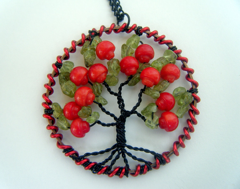 Tree of Life Magic Mushroom Necklace