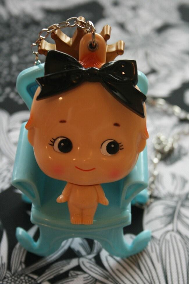 Alice in Wonderland Kewpie Mirror necklace