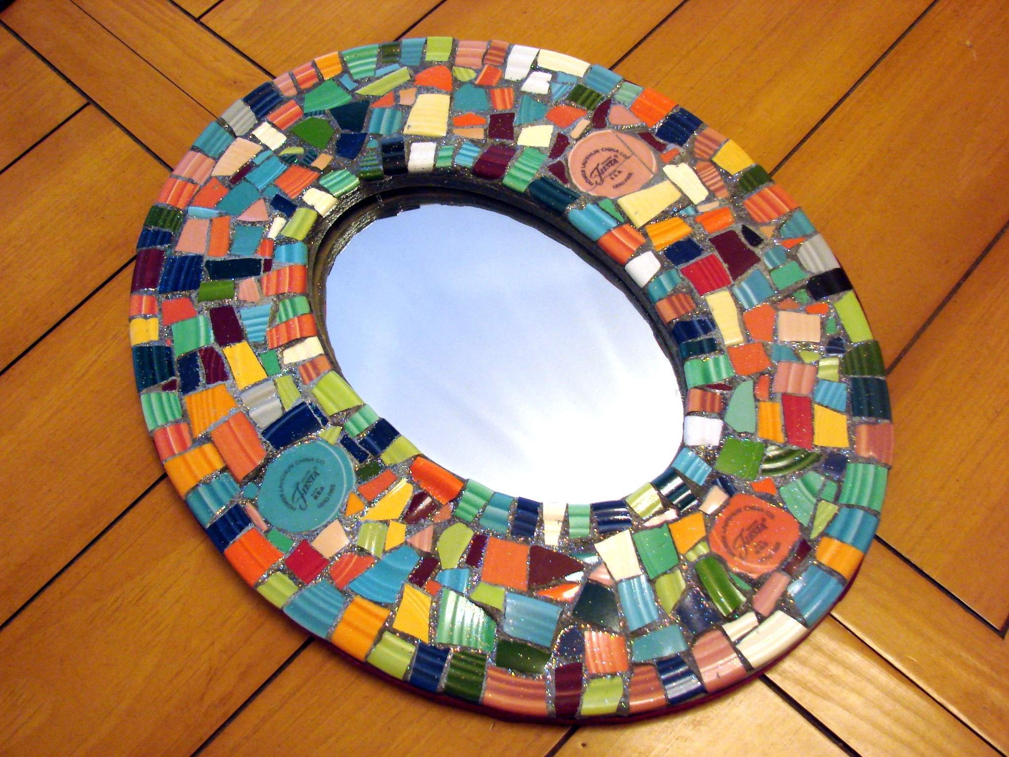 Mirror mirror on the wall on pinterest wall mirrors for Mosaic mirror