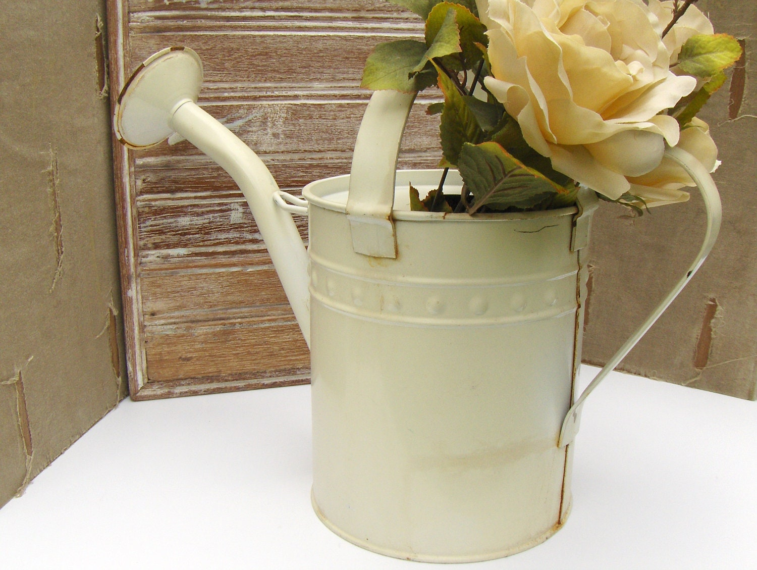 Vintage Metal Watering Can - MyVintageAlcove