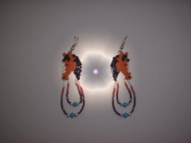 Delica Seed Bead Earings Pattern