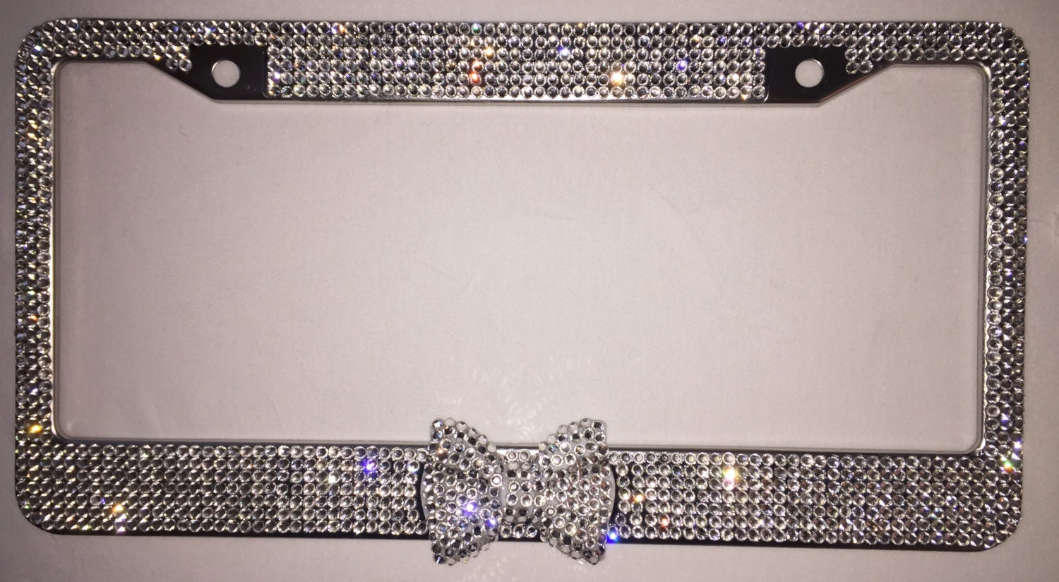 Cool Blingz Thin CRYSTAL License Plate Frame Rhinestone