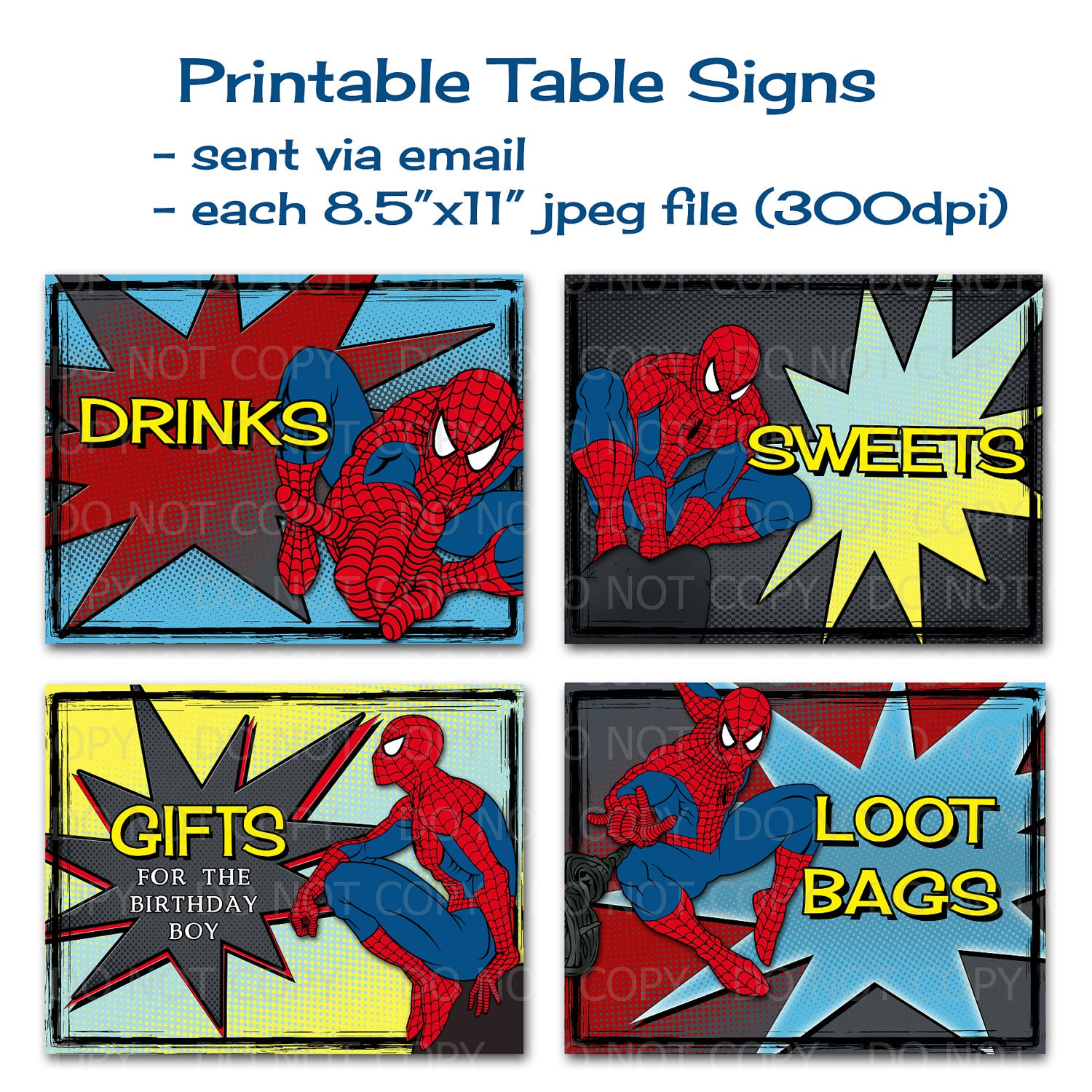 Printable DIY Super Hero Theme Birthday Party By
