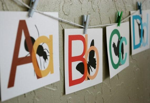 Peeking Animals - Printable Alphabet Playtime Cards