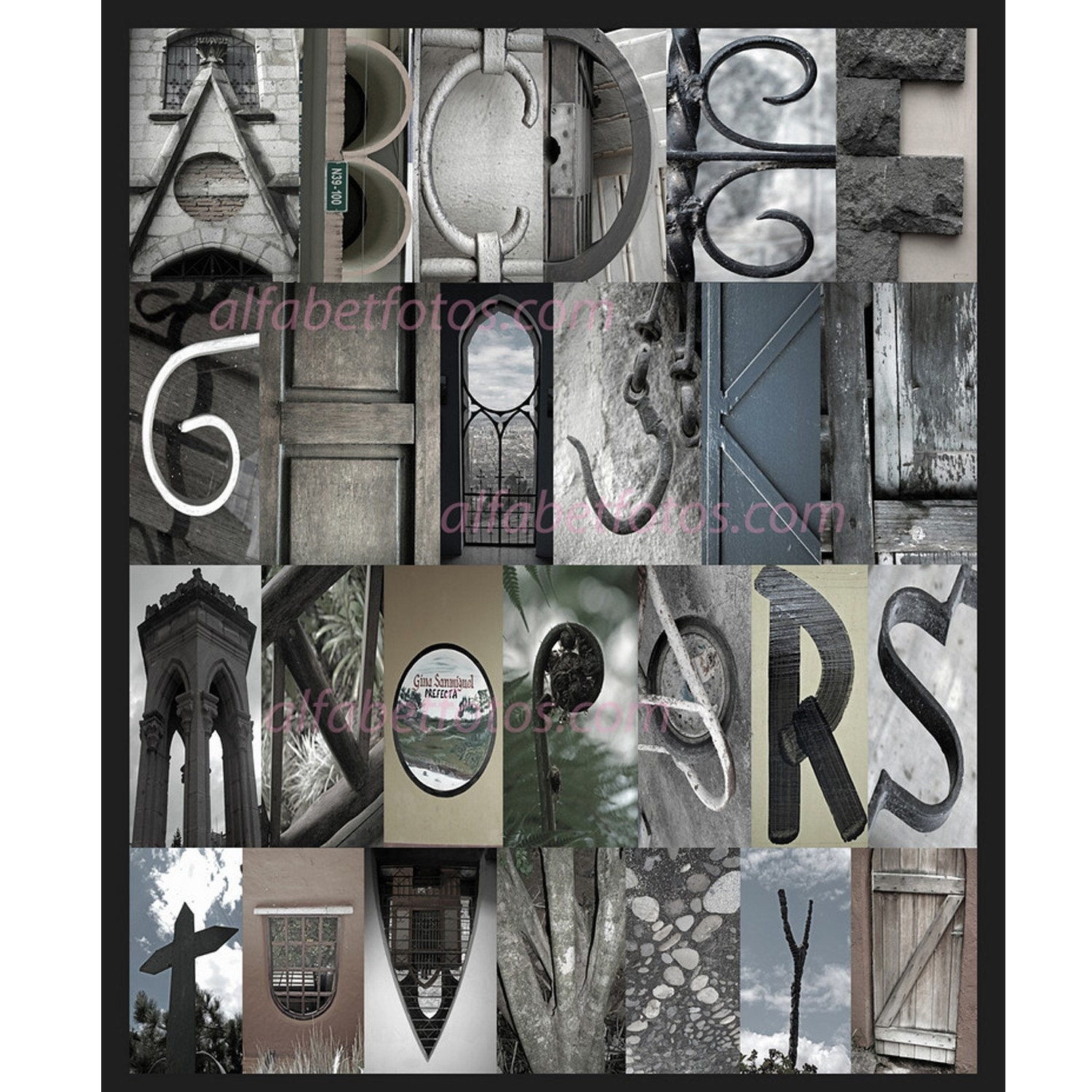Items similar to alphabet letters photography home decor for Letter wall art