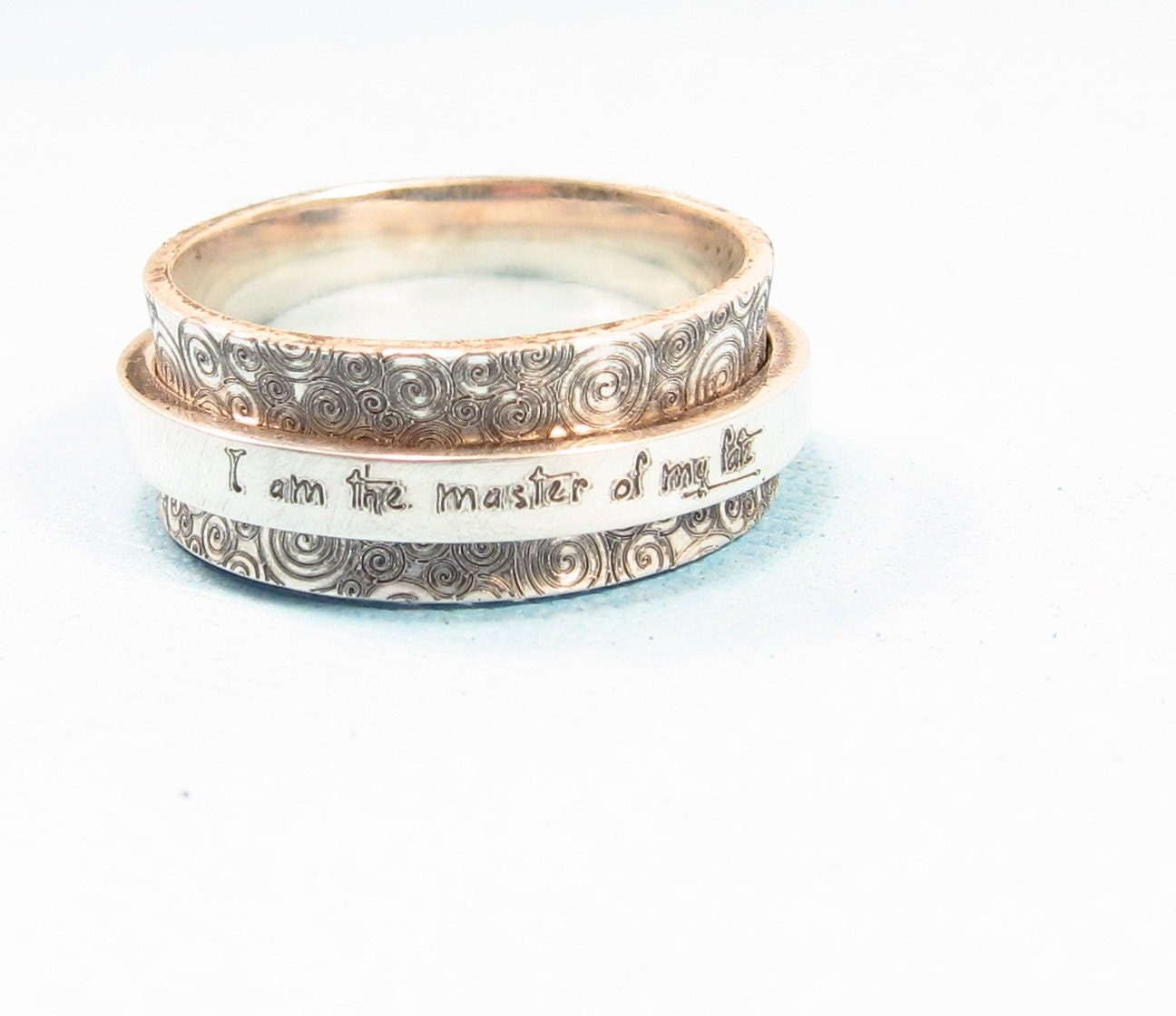 personalized ring spinner ring silver by emilyjdesign