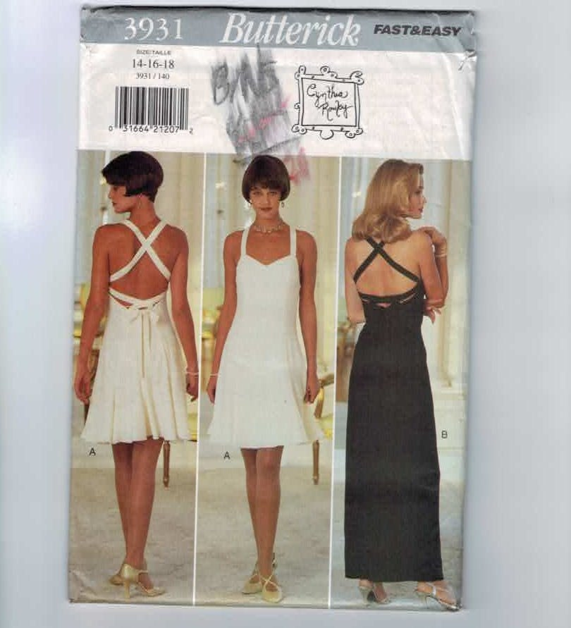Cynthia Rowley Sewing Patterns: Cynthia Rowley Butterick 3931 Sewing By Historicallypatterns