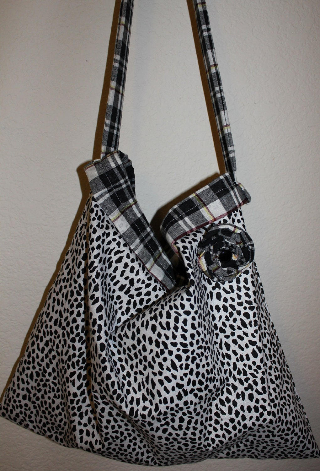 Tote Purse Sale Sassy Large Reversible  with Removable Rosette Pin