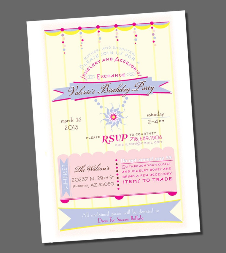 Jewelry Party Invitation is an amazing ideas you had to choose for invitation design