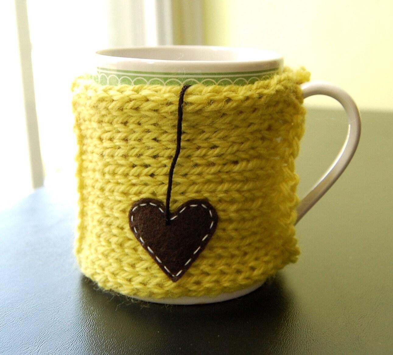 Tea Love Mug Cozy with Heart