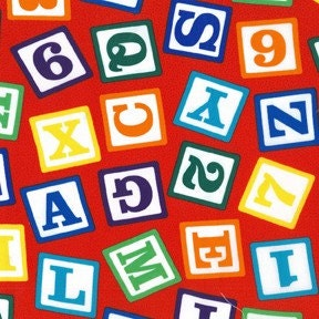 Michael Miller- Block Letters in Multi, 1 Yard