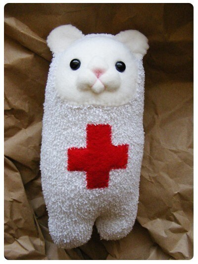 OUCH Bear Plush with medical cross