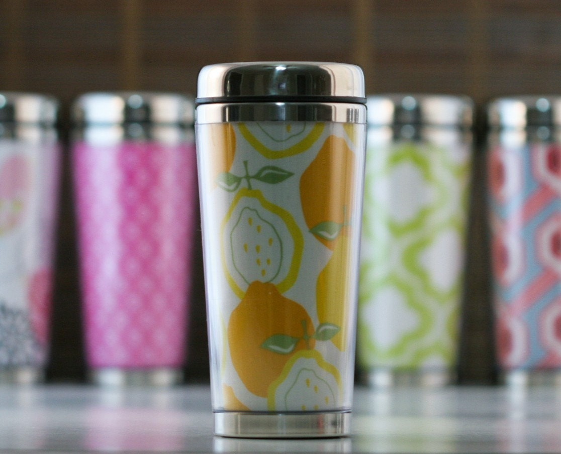 Pretty Travel Mug - Juicy Lemon