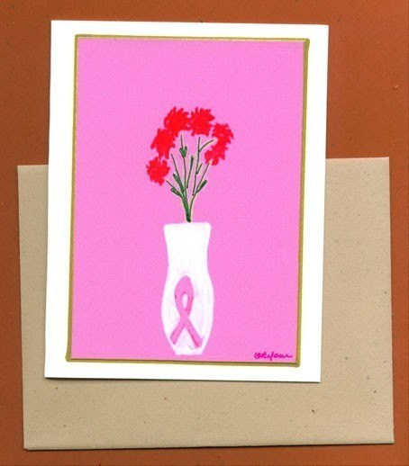 Breast Cancer Awareness Bouquet Note Card