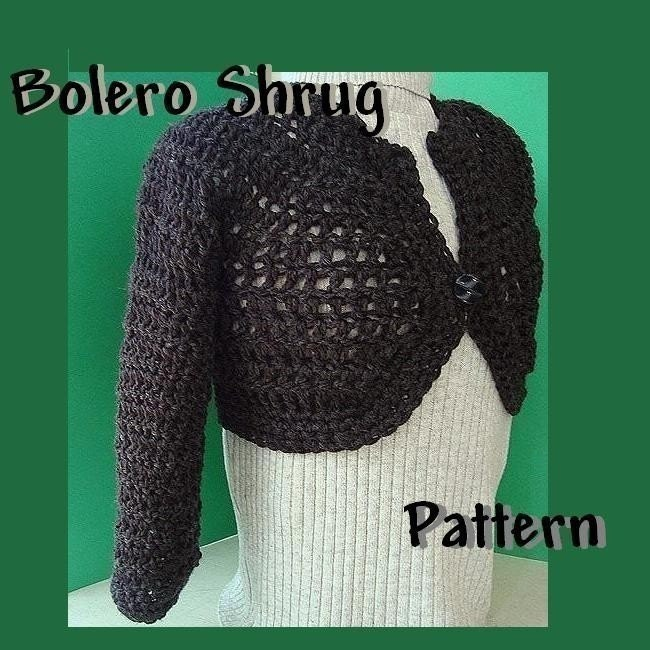 LC1487 Crochet Bolero - Sewing, Needlecraft, Thread, Textile