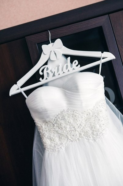 Wooden wedding dress bridal hanger shaped wood wedding by for Wedding dress hanger amazon