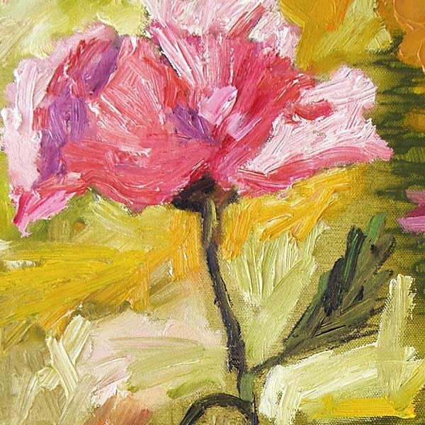 Pink Oriental Poppies ORIGINAL OIL Painting by Ginette Callaway