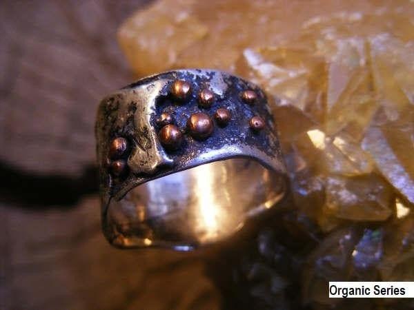 Copper Rings Organic Serie.