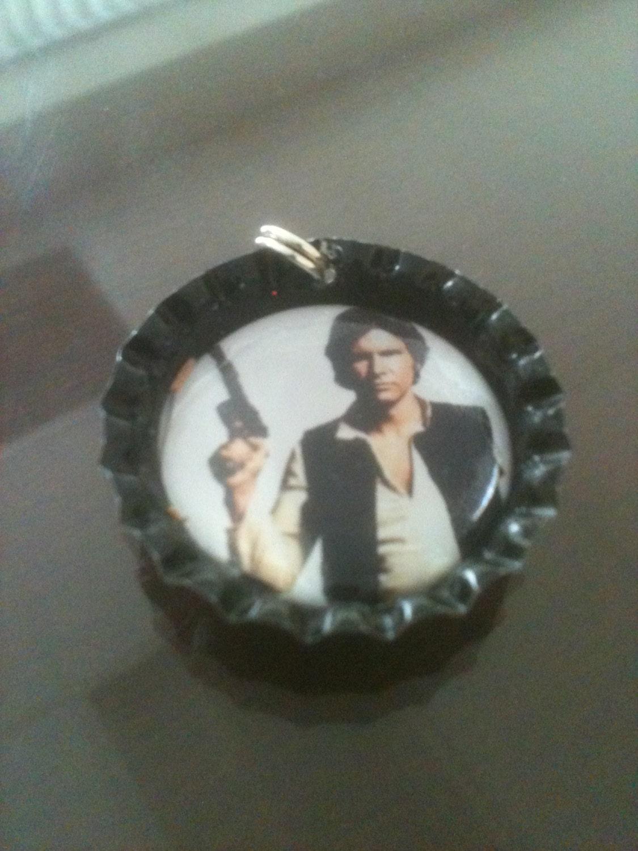Star Wars Han Solo  Bottle Cap Pendant - GeektasticCreations