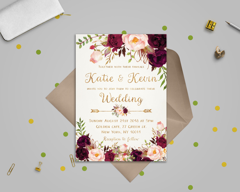 The Best in Etsy Wedding Invitation Suites  Junebug Weddings