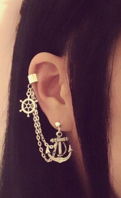Popular items for cartilage chain earring on Etsy
