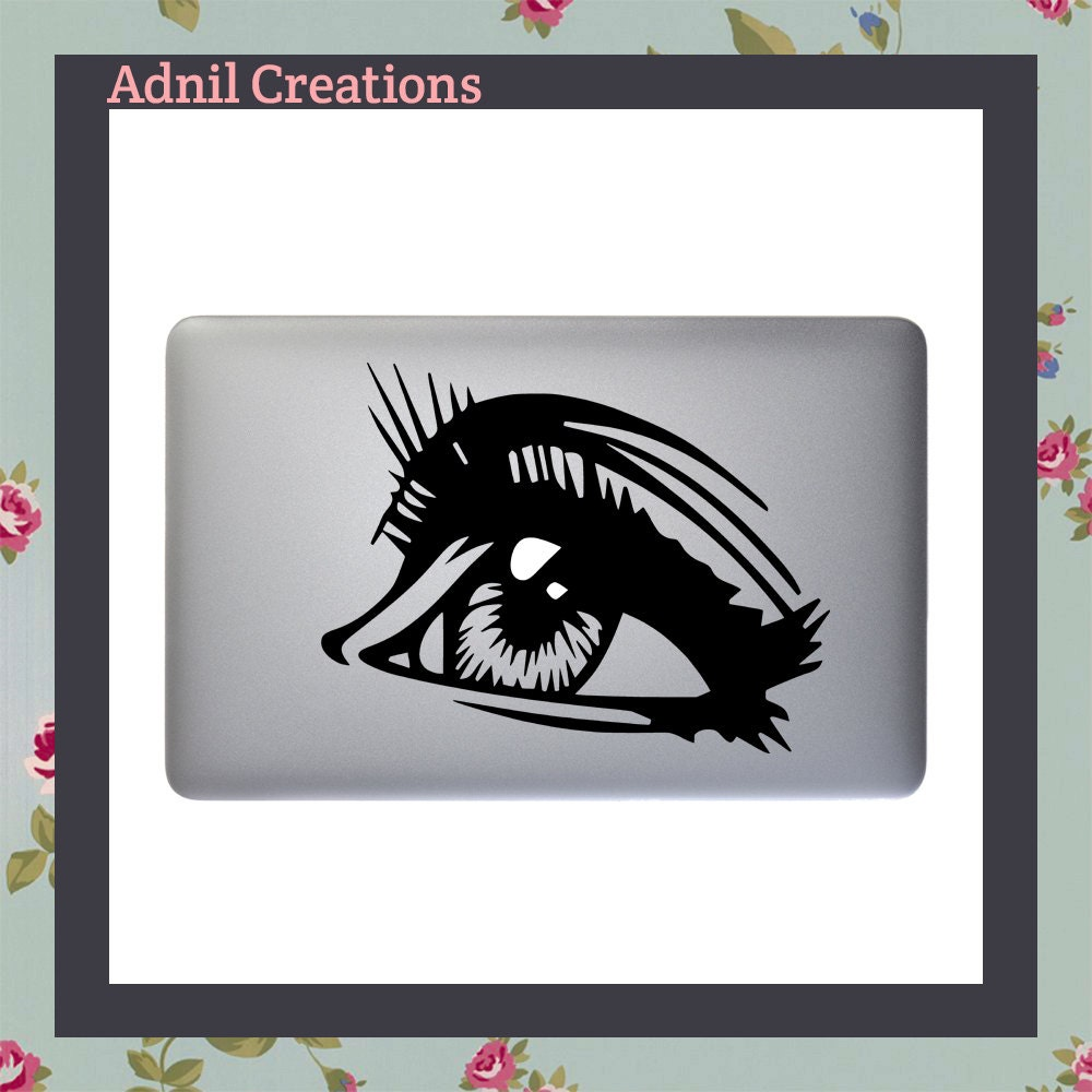 Mac Decal Eye Sticker Apple Macbook and other laptop Stickers and Decals