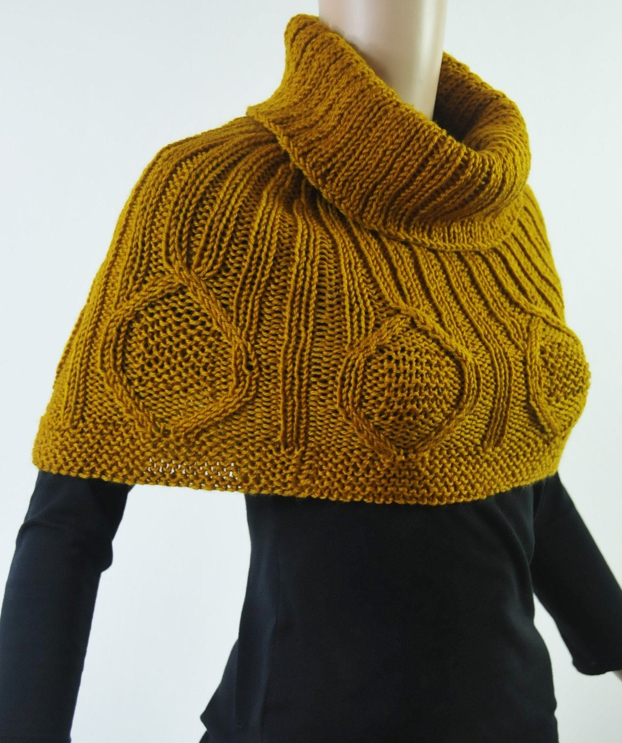 Snow Diamond - Mustard Gold CAPELET/ PONCHO