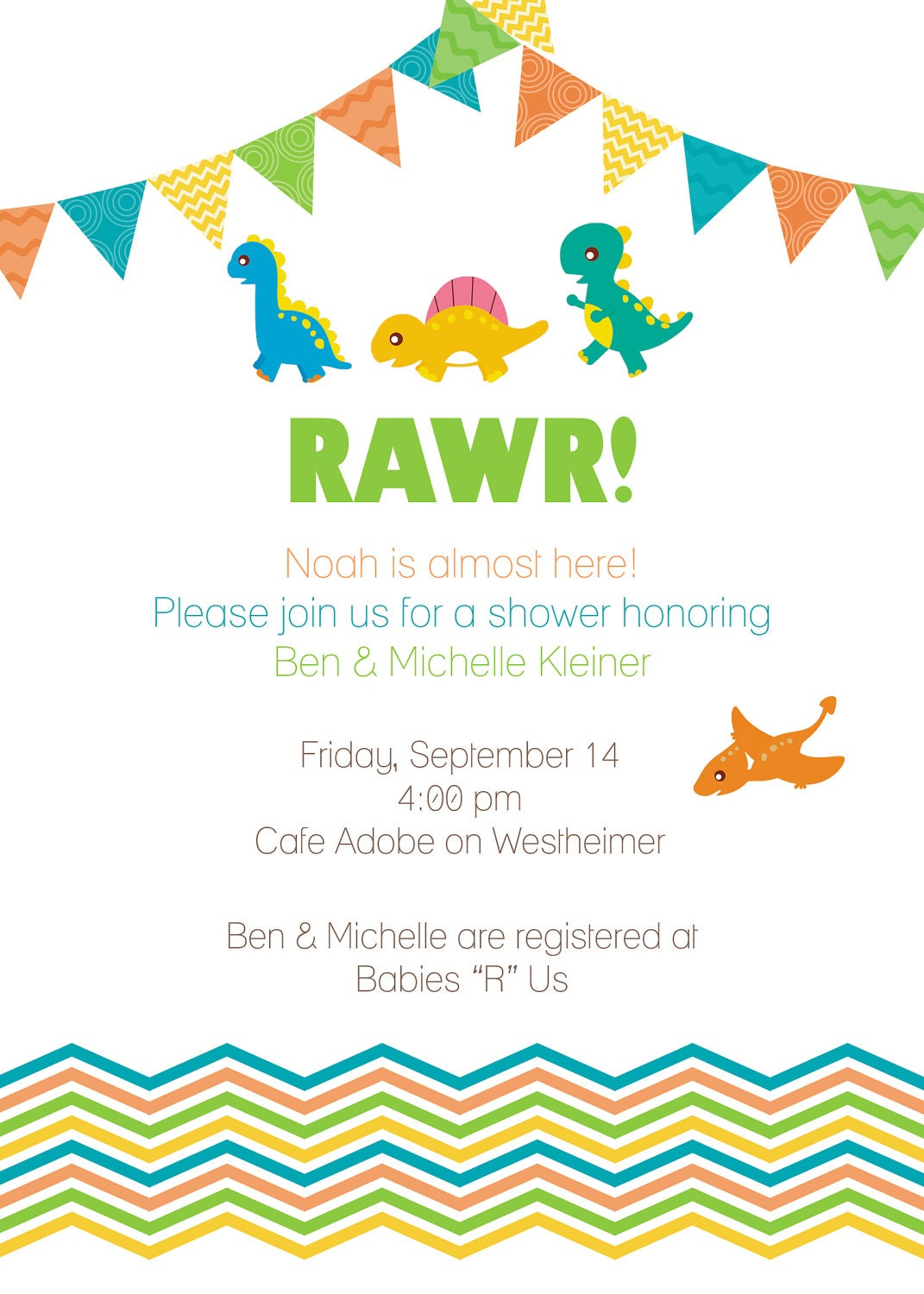 Ridiculous image with free printable dinosaur baby shower invitations