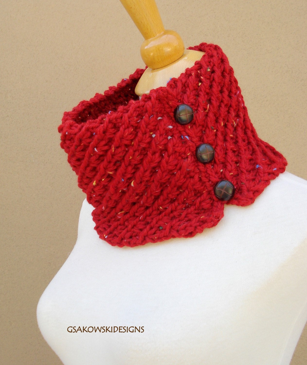 Amelia Cowl-Red