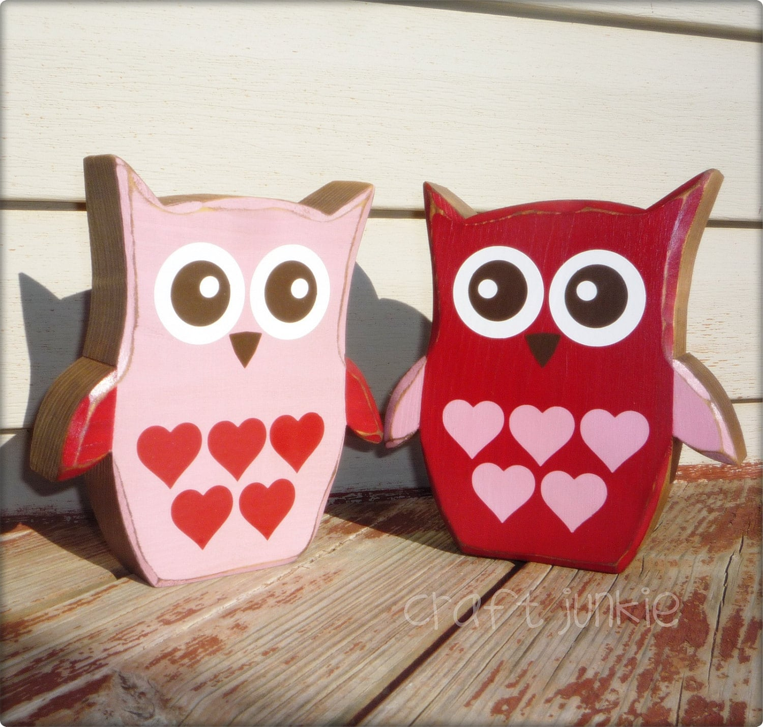 Valentine love bird owl