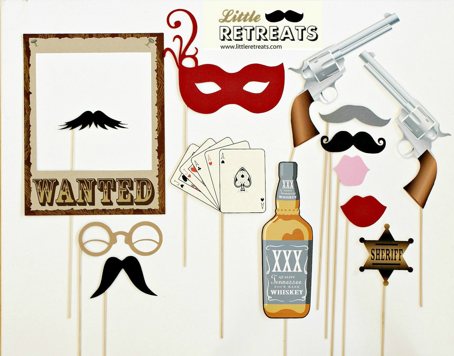 Western Themed Photobooth Props. Photo Booth by LittleRetreats