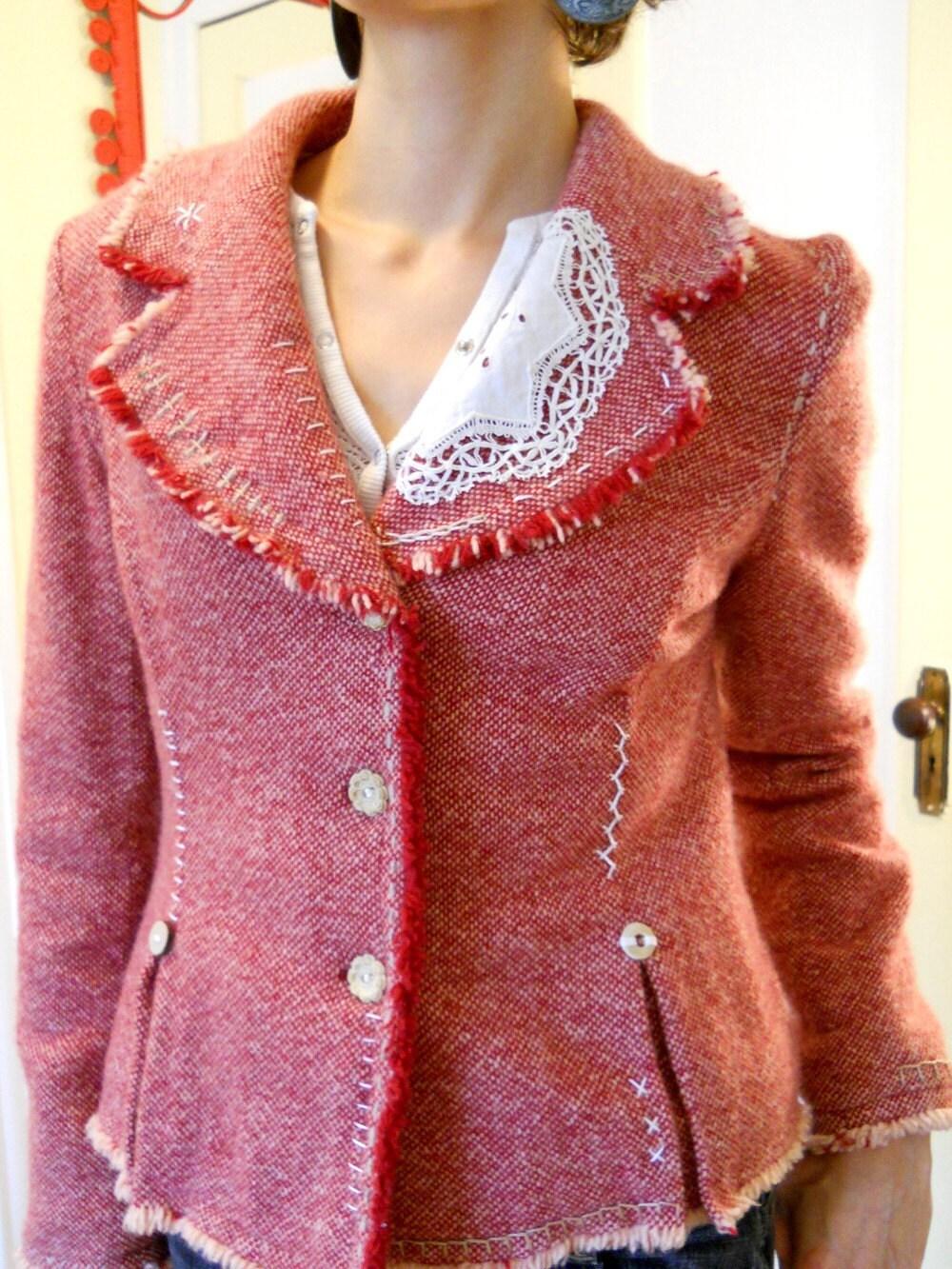 Woolen Stitchery Jacket... size Medium