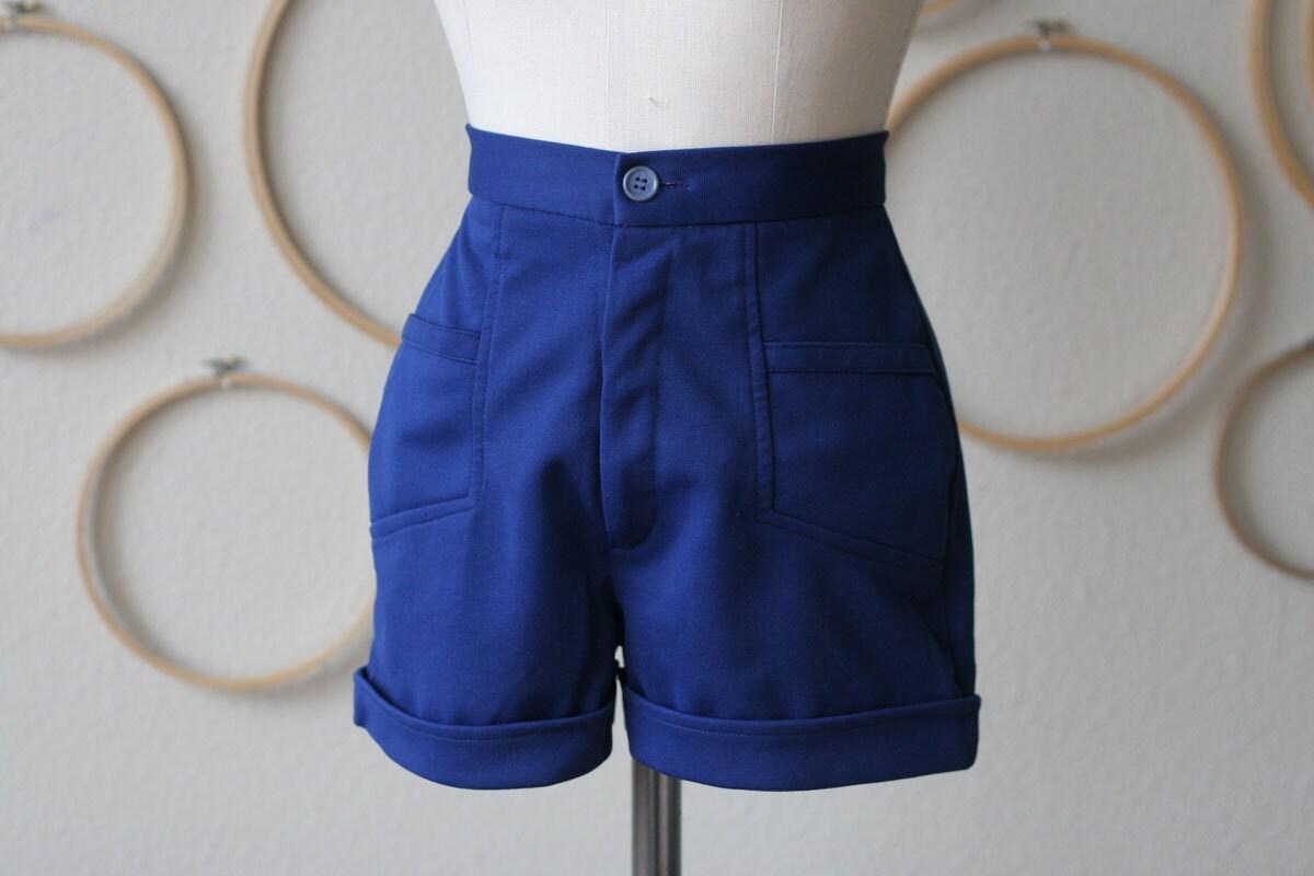 1970s Nautical High Waist shorts