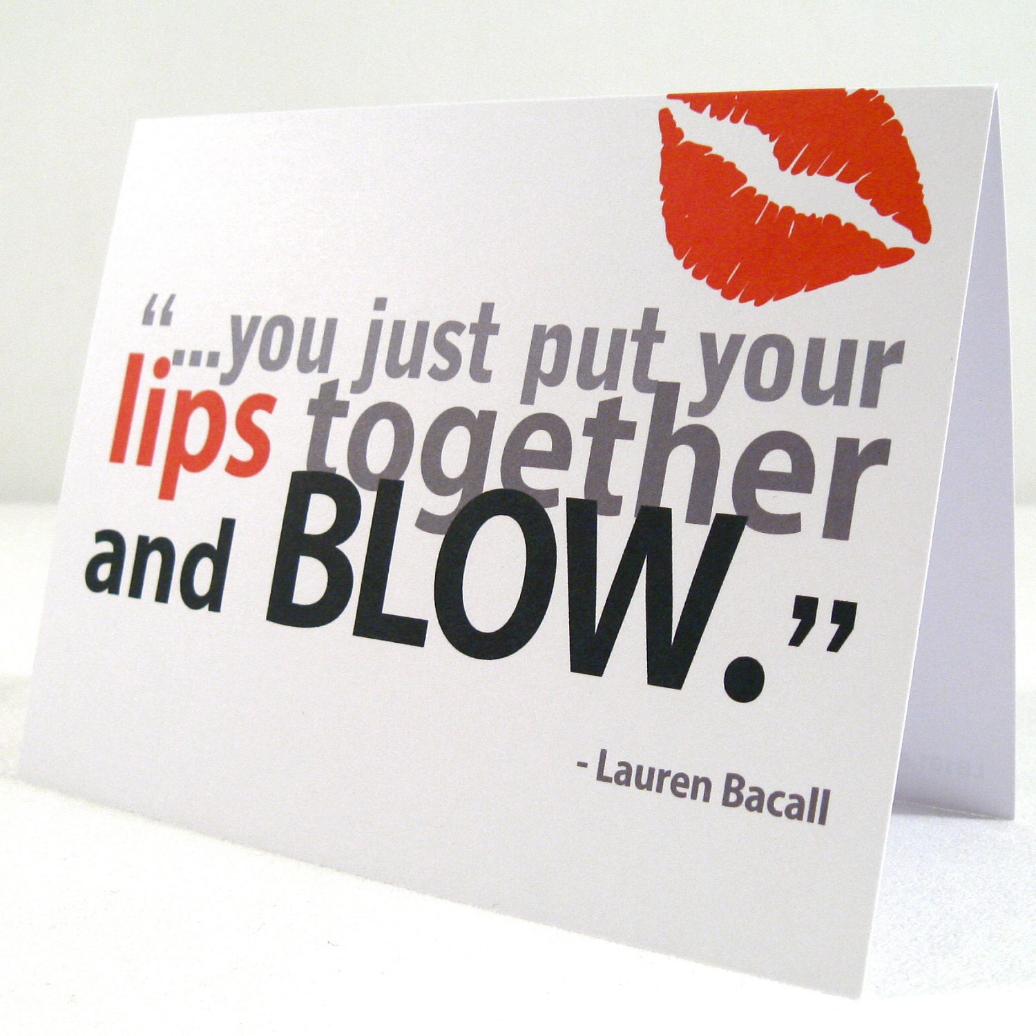 just put your lips together and blow: