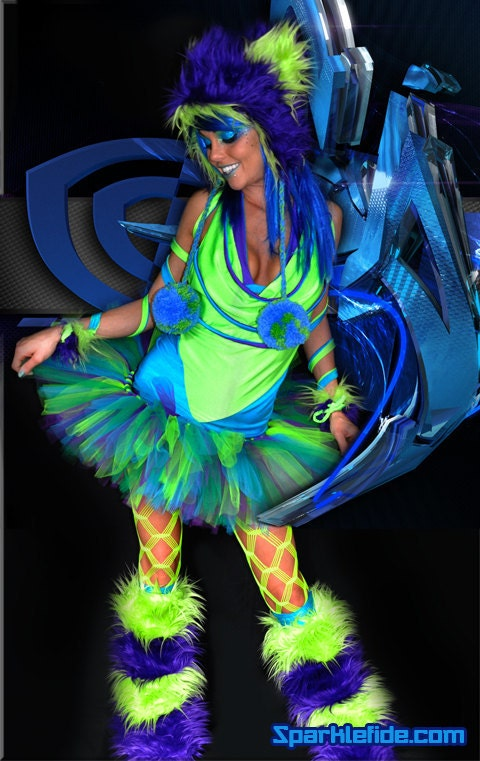 neon rave outfits virtual rave costume