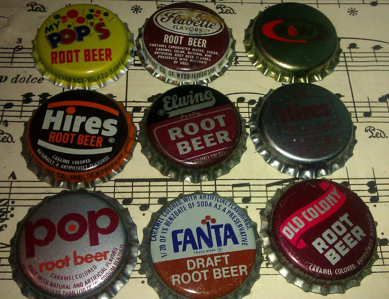 vintage pop caps root beer